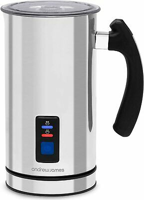 £29.99 • Buy Electric Milk Frother & Heater Warmer Jug Machine Automatic Silver Andrew James
