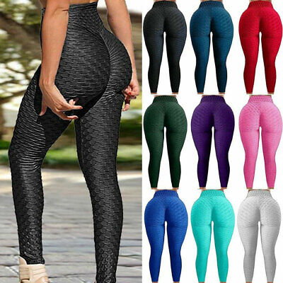 Women High Waist Yoga Pants Anti-Cellulite Leggings Sport Gym Honeycomb Trousers • 3.68£