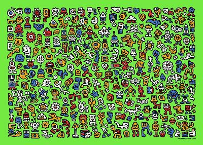 $1998.98 • Buy Mr Doodle  Alien Town  Limited Edition Screen Print X/300 Signed & Numbered 2020