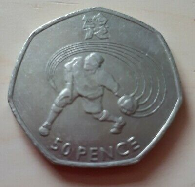 Olympic 50p Goalball Fifty Pence Coin Circulated 2011 • 3.59£