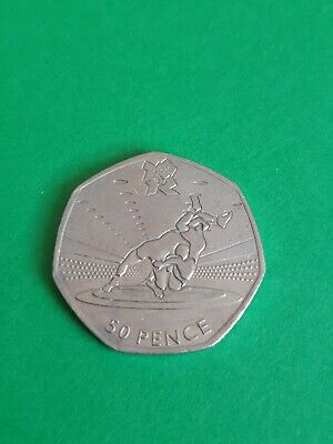 Olympic 50p Wrestling Fifty Pence Coin Circulated 2011 • 9.79£