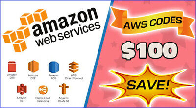 $ CDN50.43 • Buy AWS $100 Code Amazon Promocode Credit Web Services -Refill For Student 10/1/2020