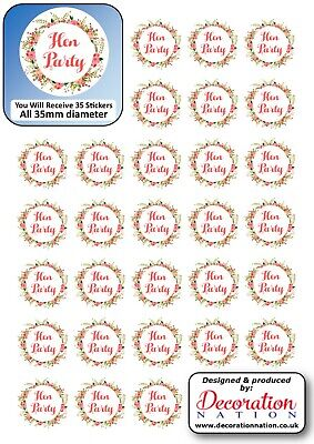 Hen Party Floral Flowers STICKERS Decoration Fun Adults Hen Do Party Wedding • 2.79£