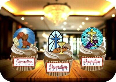 £2.99 • Buy Holy Communion Mix B 12 Edible STANDUP Cake Toppers Decoration Religious Party