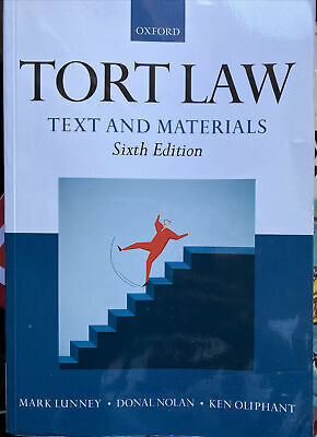 £8 • Buy Tort Law: Text And Materials By Mark Lunney, Donal Nolan And Ken Oliphant 2017