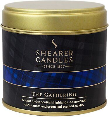Shearer Candles The Gathering Large Scented Tartan Tin Candle - White • 7.99£