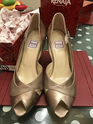 Ladies Brand New Renata Shoes Size 37.5 Fits 38 In Pewter/champagne Colour BNIB • 15£
