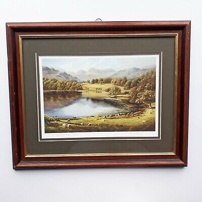 'Loughrigg Tarn' Framed Signed Lake District Print By Paul Harley • 25£