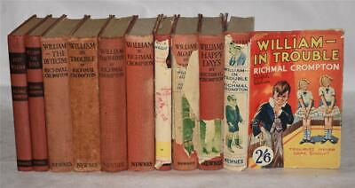Collection Of 10 Books By RICHMAL CROMPTON Just William George Newnes 1924 • 6.50£