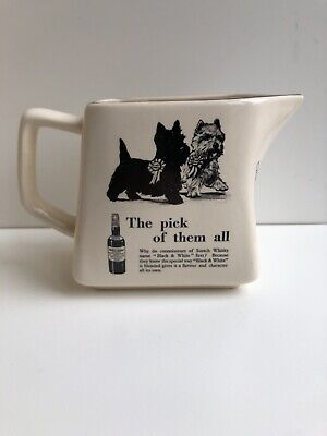 £12.50 • Buy Black & White Whisky Water Jug Number 2 In A Series Of 8
