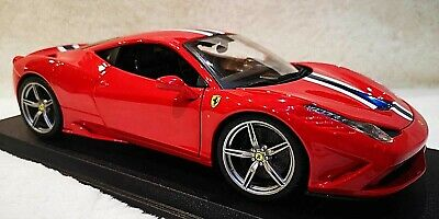 MAISTO 1:18 Scale Ferrari 458 Speciale Red & Stripes Diecast Model Car SEE VIDEO • 57.99£
