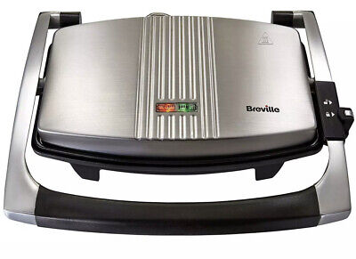 Breville Cafe Style Toasted Sandwich Press Grilled Panini Maker Toaster Kitchen • 40£