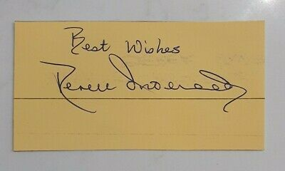 AU13.12 • Buy Very Rare Derek Underwood Signed In Person Autograph Index Card Cricket Ashes