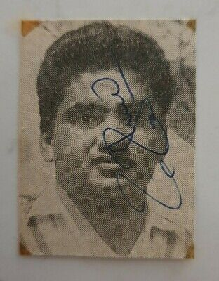 AU15 • Buy Mushtaq Mohammad Signed In Person Small Newspaper Picture Pakistan Cricket