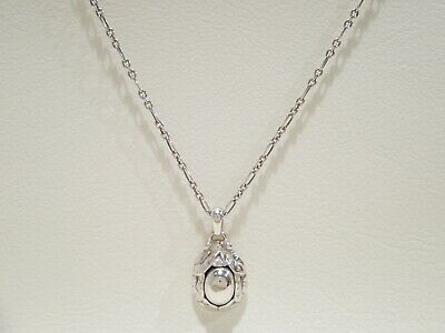 GEORG JENSEN Sterling Silver 1997 Year Of Pendant Necklace 18  • 145£