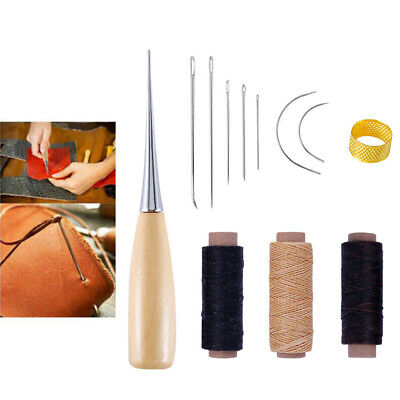 £4.99 • Buy 12x Repair Wood Waxed Thread Cord Sewing Drilling Awl Needles Leather Craft Tool