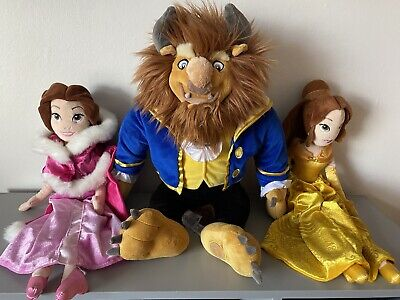 """Disney Store Princess Soft Doll Plush Toys Belle 20"""" Beauty And The Beast • 35£"""