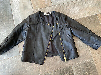 H&M Girls 18-24 Months Leather Look Jacket - Super Cute • 3.25£
