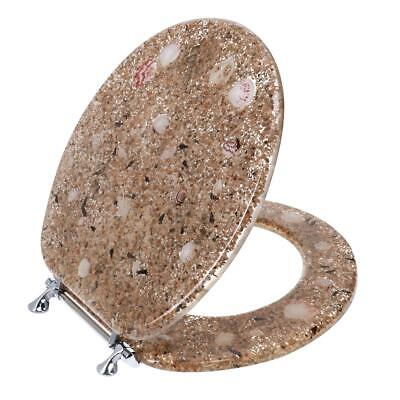 £44.60 • Buy Ginsey Round Resin Decorative Toilet Seat With Chrome Hinges, Sea Isle