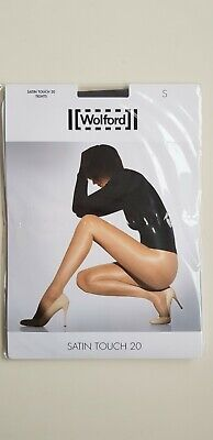 WOLFORD SATIN TOUCH 20 Den TIGHTS Size S Small In STEEL Dark Grey Nearly Black • 15£