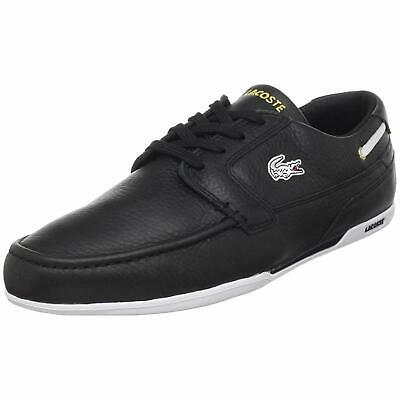 Lacoste Mens Dreyfus Leather Low Top Lace Up Fashion, Black/Gold, Size 10.5 • 47.99£