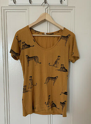 AU40 • Buy Gorman Summer Leopard Yellow T-shirt 100% Organic Cotton