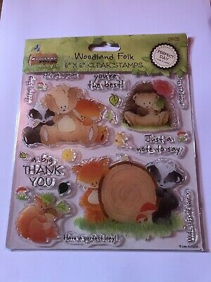 Clear Stamps PERFECT DAY, HOME SWEET HOME And WOODLAND ALPHABET • 8.50£