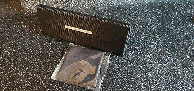 Land Rover Carbon Fibre Effect Fold Flat Glasses Case And Cloth Brand New   • 15£