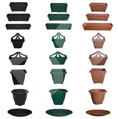 £6.95 • Buy Plastic Window Boxes & Saucers Planter Pots Water Base Drip Tray Garden Plant