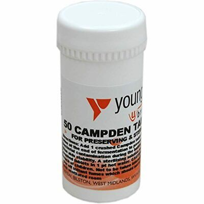 £8.01 • Buy Youngs Campden Tablets 50 Pk (Sodium Metabisulphate)