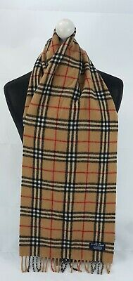 Burberry Scarf 100% Lambswool For Men And Women Made In England Beige  • 10.50£