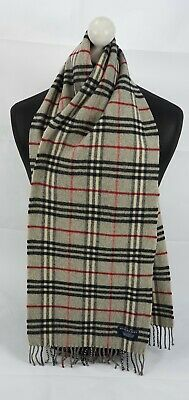 Burberry Scarf 100% Lambswool For Men And Women Made In England Grey • 6.50£