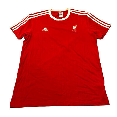 Adidas Originals X Liverpool FC Mens Red Short Sleeve T-shirt Size Large Fitted • 19.80£