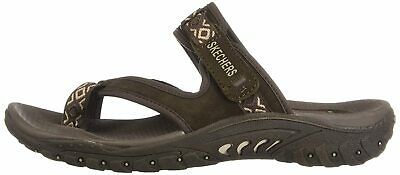 Skechers Women's Reggae Trailway Flip Flop, Chocolate, Size 6.0 Siz2 US • 15.99£