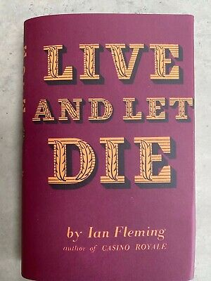 FINE Live And Let Die FIRST EDITION 1st 1956 W/DJ Ian Fleming James Bond • 20£