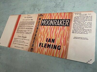 MOONRAKER Facsimile 1st/1st Edition DUST JACKET Ian Fleming James Bond 007 • 10£