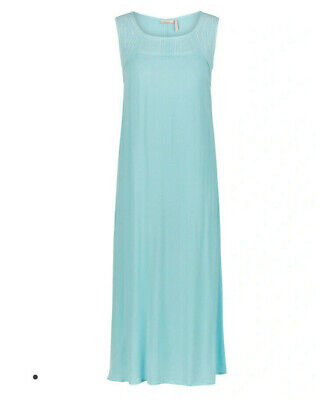AU9.95 • Buy NEW Maxi Dress Millers Light Blue Embroidery Sleeveless Crinkle RRP $60 Plus NWT