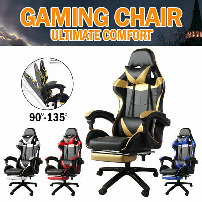 AU115 • Buy Gaming Office Chair Executive Computer Chair Seating Footrest Racer Chairs