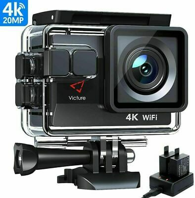 Victure Ac800 Action Camera 4k 20mp Wifi Underwater Camera Els Waterproof 40m • 39.99£