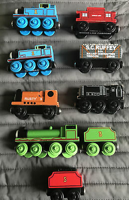 Thomas The Tank Wooden Train Henry, James, Diesel, Scruffy Caboose, Rusty • 35£