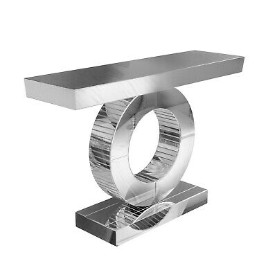 £234.96 • Buy Narrow Mirrored Hall Console Table With Panelled Design - Jade Boutique
