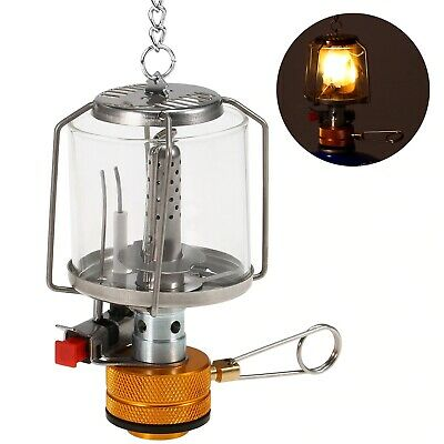£7.99 • Buy Outdoor Mini Gas Lamp Camping Lantern Tent Lamp Portable Gas Light Equipment