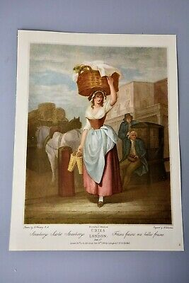 £9.99 • Buy Antique Clipping/Print: Cries Of London Plate 9, Strawberry Seller