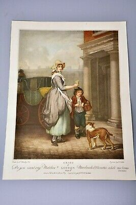 £10.99 • Buy Antique Clipping/Print: Cries Of London Plate 4, Match Seller