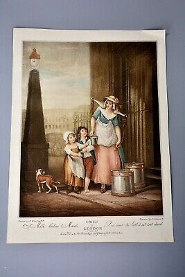 £9.99 • Buy Antique Clipping/Print: Cries Of London Plate 2 Milk Maid
