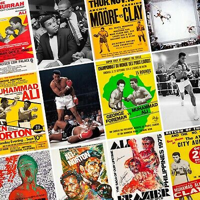 £4.99 • Buy MUHAMMAD ALI Classic Fight Posters - Cassius Clay Boxing Wall Art Print Thrilla