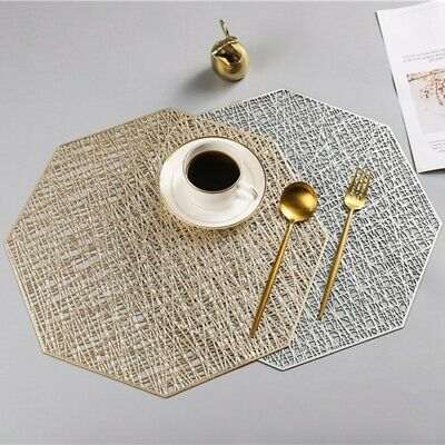 AU12.82 • Buy 1* Dining Table Place Mats Washable PVC Heat Resistant Table Mat Heat Proof 2020