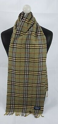 Burberry Scarf 100% Lambswool For Men And Women Made In England Green • 1.20£