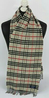 Burberry Scarf 100% Lambswool For Men And Women Made In England Grey • 1.20£
