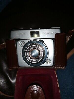 Ilford Sportsman Pronto Vintage 1:2,8/45mm Lens Camera With Leather Case • 30£